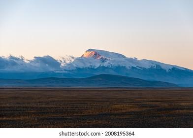 Peak  Naimona'nyi in Tibet at sunrise