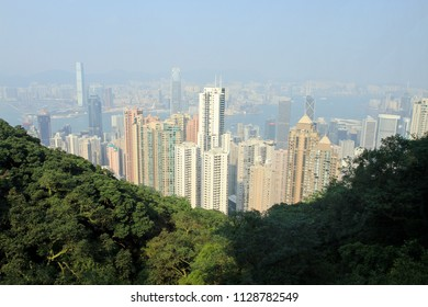 THE PEAK OCTOBER 2011 - Traveler are visiting the Peak using peak tram during summer holiday in Hong Kong