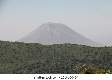 The peak of Oldonyo LeNgai in Arusha, Tanzania