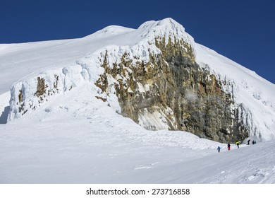 A peak at the top of Mount Baker