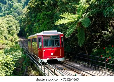 Die Straßenbahnspitze in Hongkong
