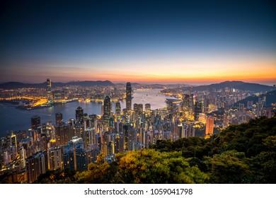 The peak view point, Hong Kong.
