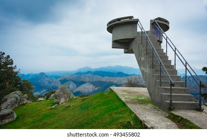 Peaks of Europe from  Fito viewpoint.Asturias