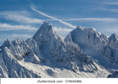 Peaks of the Mont Blanc Mountains, Upper Savoy, France