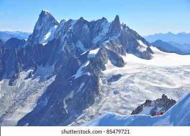 Peaks of Mountain Blanc
