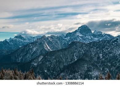 The peaks of Tarvisio in the italian alps