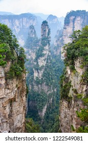 The peaks of Zhangjiajie National Forest that inspired the scenography of Avatar Hallelujiah Mountains