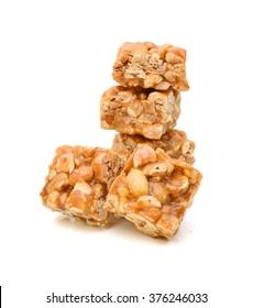 Peanut brittle, isolated