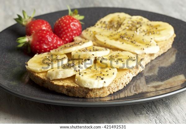 Peanut butter & banana sandwich