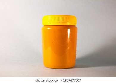 Peanut Butter Jar with White Backdrop