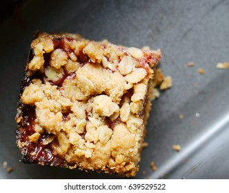 Peanut Butter and Jelly Oat Square
