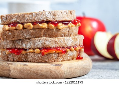 Peanut Butter and Jelly Sandwich on Whole Wheat