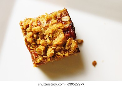 Peanut Butter and Strawberry Jelly Square