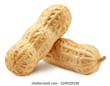 peanut isolated on white background, clipping path, full depth of field