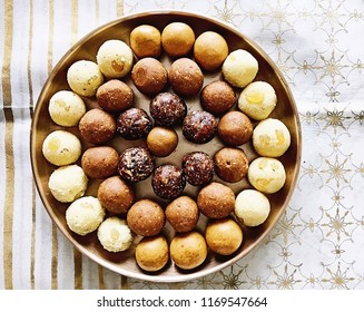 Peanut ladoo made of the celebration of festivals . Tasty ladoos made from peanut for prayers.