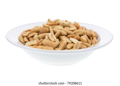 Peanut on Plate with White Background