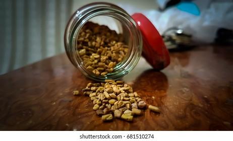 peanut on the table