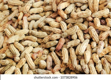 Peanuts at retail stores in the market
