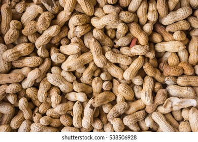 Peanuts seed. Many groundnuts in shells. Peanuts background