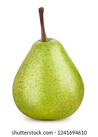 Pear isolated on white background. Pear Clipping Path