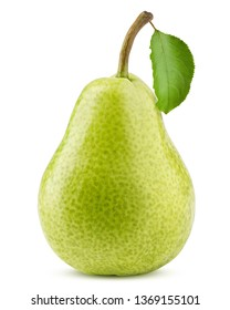 pear, isolated on white background, clipping path, full depth of field