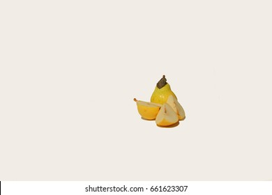 Pear on isolated White background