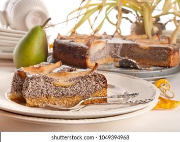 pear poppy cake gluten free sugar free cottage cheese gourmet dessert