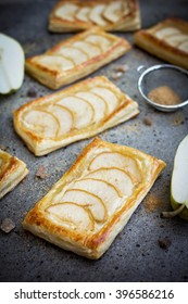 Pear puff pastry tarts