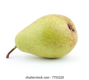 Pear in the studio isolated on white