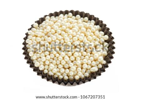 Pearl Balls Sugar Sprinkles Cake Decoration Stock Photo Edit Now Unique Pearl Balls Decoration