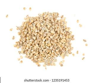 pearl barley isolated on white backrgound