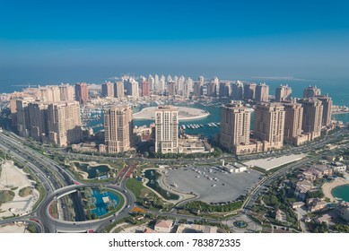 The pearl city in Doha Qatar from Roof Top on 30 December 2017