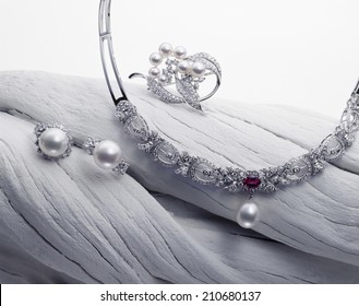 Pearl Displayed In White Background
