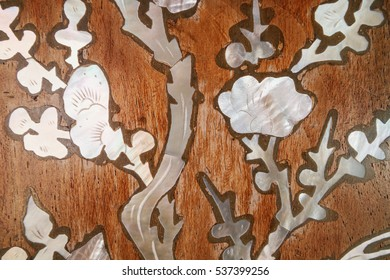 Pearl embedded wooden with mother of pearl decorations