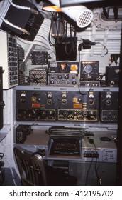 PEARL HARBOR, HAWAII - JAN 15, 2001 - Radio room of USS Bowfin (SS-287), World War II submarine in Pearl Harbor, Hawaii - Shutterstock ID 412195702