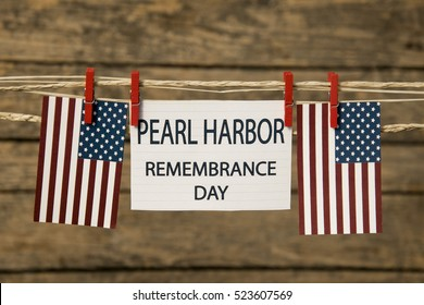 Pearl Harbor Remembrance Day card or background.