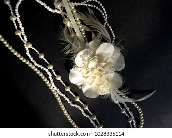 Pearl necklace with corsage