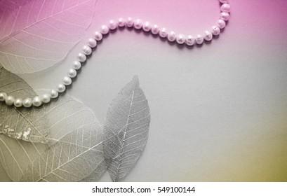 pearl necklace. vintage