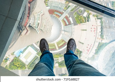 Pearl Tower Observation Deck in Shanghai China
