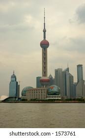 the pearl tower, shanghai