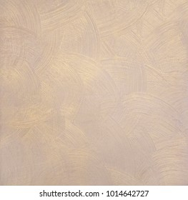 Pearlescent texture of paint with round divorces - beige color with gold
