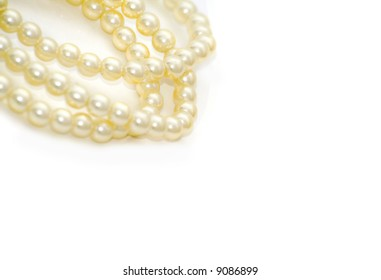 pearls isolated on white