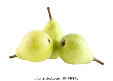 pears isolated on white background closeup