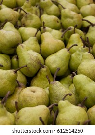Pears on Market Stall in Australia.