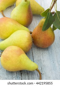 pears on the table
