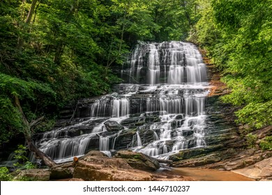 Pearson's Falls is a beautiful 90 foot waterfall on Colt Creek in the foothills of Western North Carolina between Tryon and Saluda.