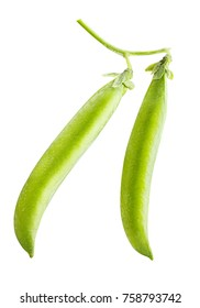 peas isolated on white background clipping path