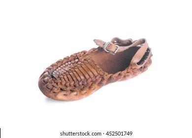 Peasant shoe isolated on white background.