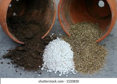 Peat, Perlite and Vermiculite--gardeners' friends.