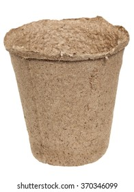 Peat pot for seedling it is isolated on a white background